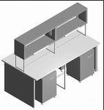 Стол лабораторный островной СО-1П-ЛТ-2.2