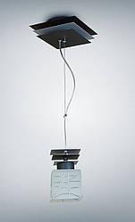 Люстра металлическая одноламповая на тросах 10801-4