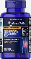 Puritan's Pride, Глюкозамин, Хондроитин,  МСМ Удвоенная сила 60 таб.