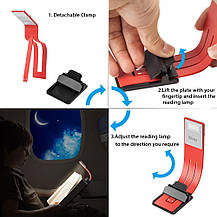 USB LED лампа для чтения Oliomp  аккумуляторная красная., фото 2