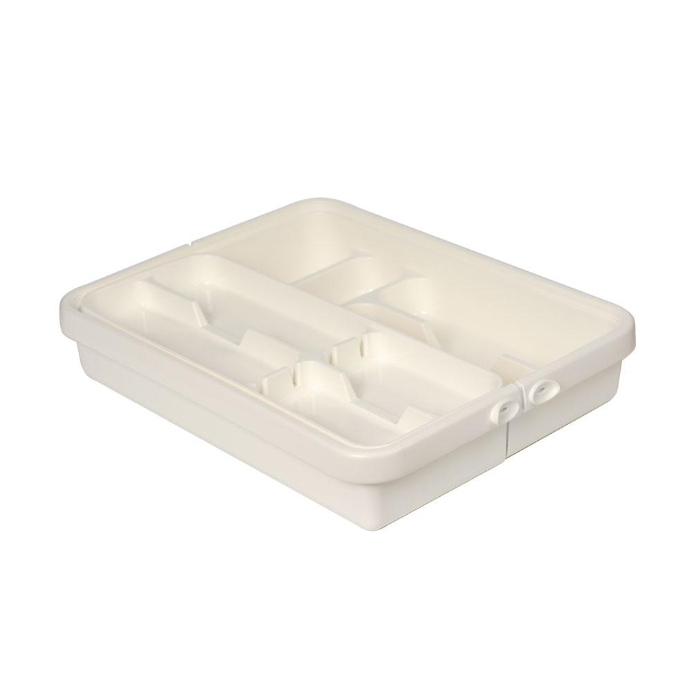 Лоток для столовых приборов Tontarelli  31,7(55)х41,8х7,7см Белый