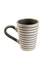 Чашка з лініями 0,35 л Le Cose 11см Білий, Сірий