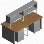 Стол лабораторный островной СО-1П-КТ-2.2