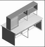 Стол лабораторный островной СО-1ПТ-ЛЯ-2.2