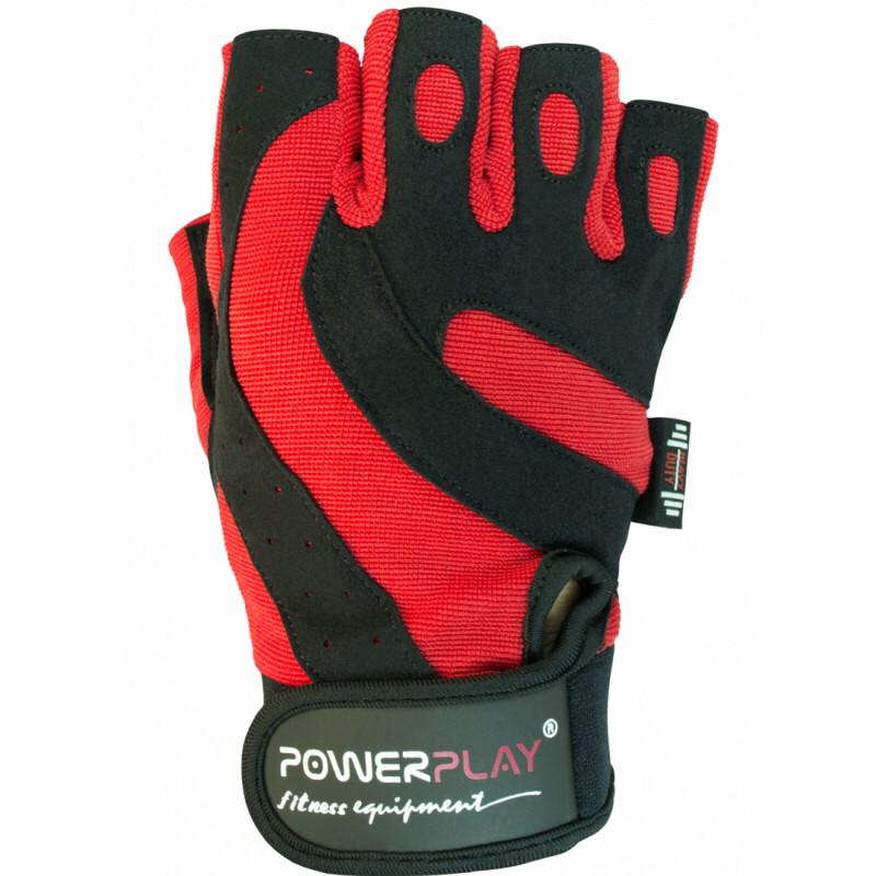 Фитнес перчатки PowerPlay / 1598-C / red-black L