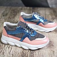 Кожаные кроссовки 36-40 р, фото 1