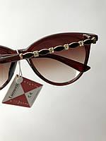 Стильные женские солнцезащитные очки классические, коричневые