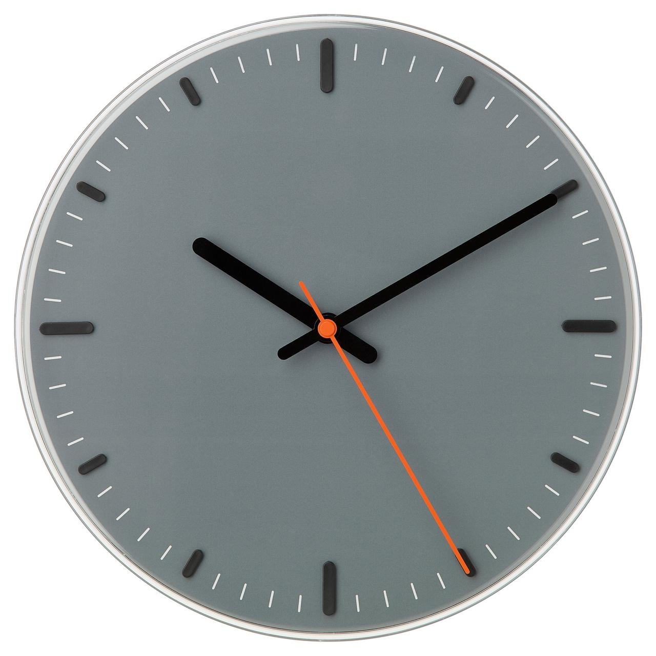 часы настенные Ikea Svajpa 30 см серый 40392058 цена 642 грн