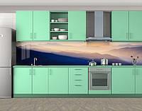 Кухонный фартук Дымка в горах, Стеновая панель с фотопечатью, Природа, синий, фото 1