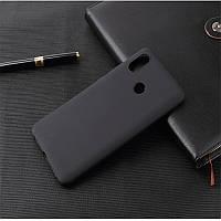 Чехол для Xiaomi Redmi Note 7 / Note 7 Pro / Global силикон Soft Touch бампер черный