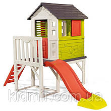 Садовий будинок дитячий ігровий Літній відпочинок на опорах з гіркою Smoby 810800