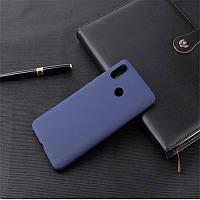 Чехол для Xiaomi Redmi Note 7 / Note 7 Pro / Global силикон Soft Touch бампер темно-синий