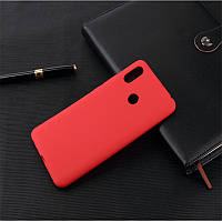 Чехол для Xiaomi Redmi Note 7 / Note 7 Pro / Global силикон Soft Touch бампер красный