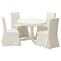 INGATORP / HENRIKSDAL Стол и 4 стула, белый, Блекинге белый 091.615.69
