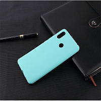 Чехол для Xiaomi Redmi Note 7 / Note 7 Pro / Global силикон Soft Touch бампер мятно-голубой