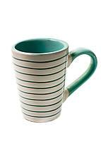Чашка с линиями 0,35л Le Cose 11см Белый, Бирюзовый