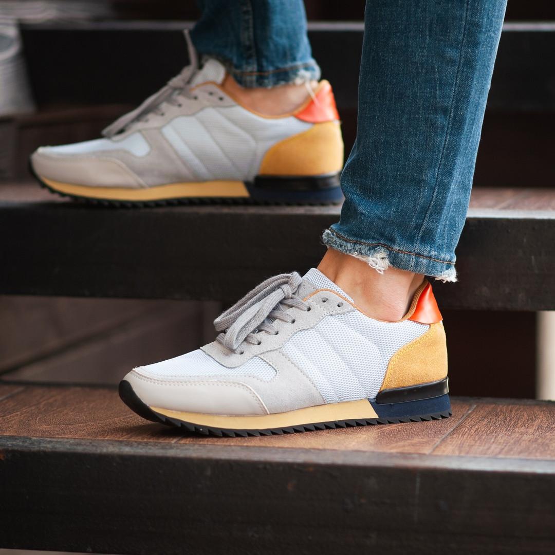 Мужские кроссовки South Oxford L-gray, мужские серые классические кроссовки