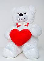 Плюшевый медведь с сердечком Mister Medved 110 см Белый
