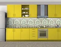 Кухонный фартук Винтажные узоры, Защитная пленка на кухонный фартук с фотопечатью, Текстуры, фоны, бежевый