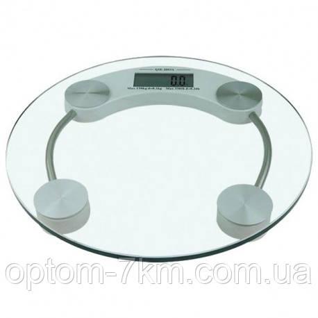 Ваги підлогові електронні до 150 кг. круглі прозорі D&T-2003A am