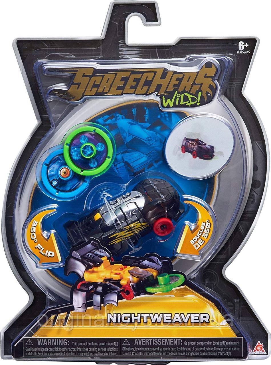 Машинка трансформер Найтвивер Дикие Скричеры Nightweaver Screechers Wild Level 1