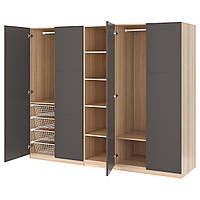 Шкаф IKEA PAX Meråker беленый дуб темно-серый 392.518.13