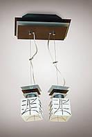 Люстра  металлическая на тросах для небольшой спальни, кухни 10802-1