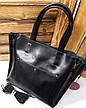 Женская сумка из натуральной кожи, съемная середина, съемный регулируемый ремешок, фото 4