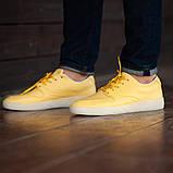 Мужские кроссовки South Fost yellow, кожаные желтые мужские кроссовки, кожаные мужские кеды, фото 3