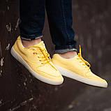 Мужские кроссовки South Fost yellow, кожаные желтые мужские кроссовки, кожаные мужские кеды, фото 2