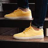 Мужские кроссовки South Fost yellow, кожаные желтые мужские кроссовки, кожаные мужские кеды, фото 4