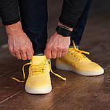 Мужские кроссовки South Fost yellow, кожаные желтые мужские кроссовки, кожаные мужские кеды, фото 5