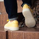 Мужские кроссовки South Fost yellow, кожаные желтые мужские кроссовки, кожаные мужские кеды, фото 6