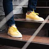 Мужские кроссовки South Fost yellow, кожаные желтые мужские кроссовки, кожаные мужские кеды, фото 7