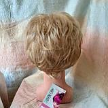 Парик короткий кудрявый соломенный блонд  ZINA-24Н613, фото 7
