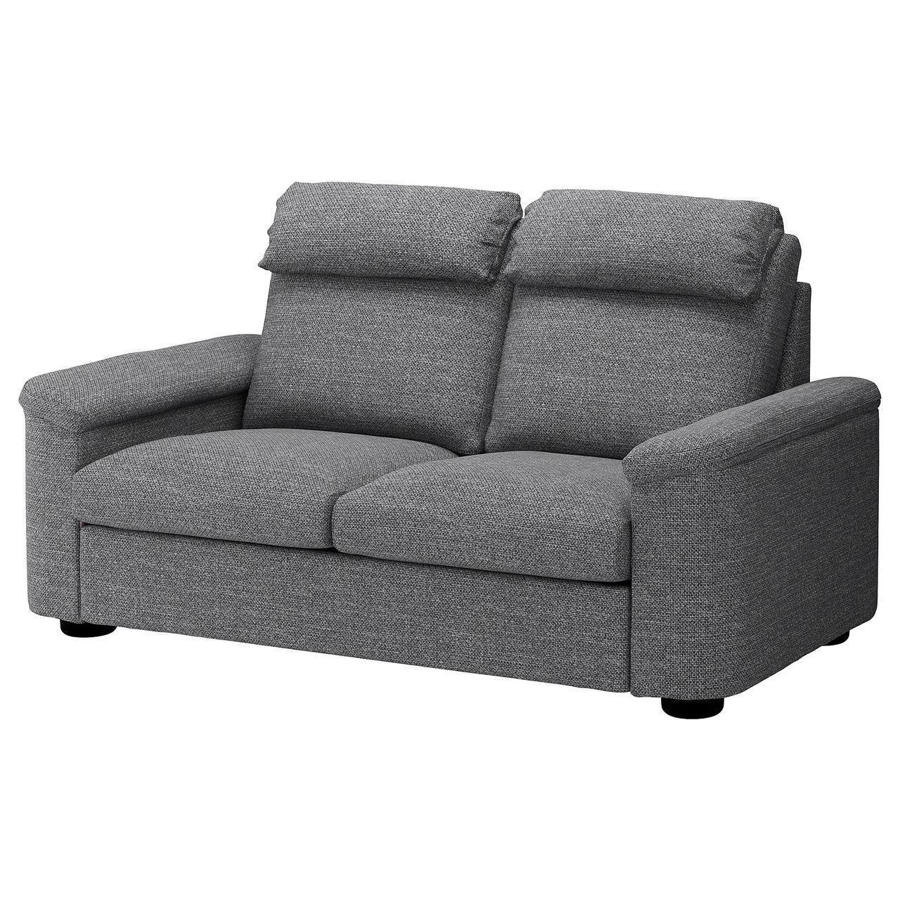 Диван IKEA LIDHULT 2-местный Lejde серый 792.569.17