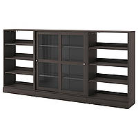 Сервант IKEA HAVSTA 283x134x37 см темно-коричневый 992.768.58
