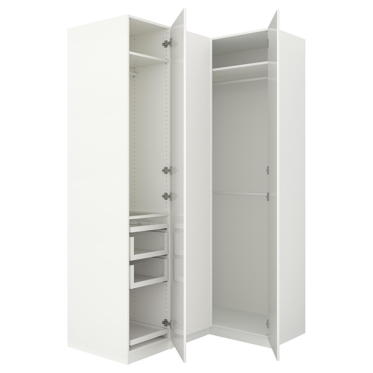 Угловой шкаф IKEA PAX 160/111x236 см Fardal белый глянец 792.179.64