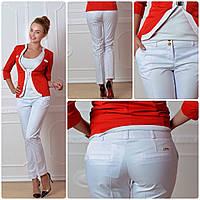 Женские брюки, арт 314, цвет белый, фото 1