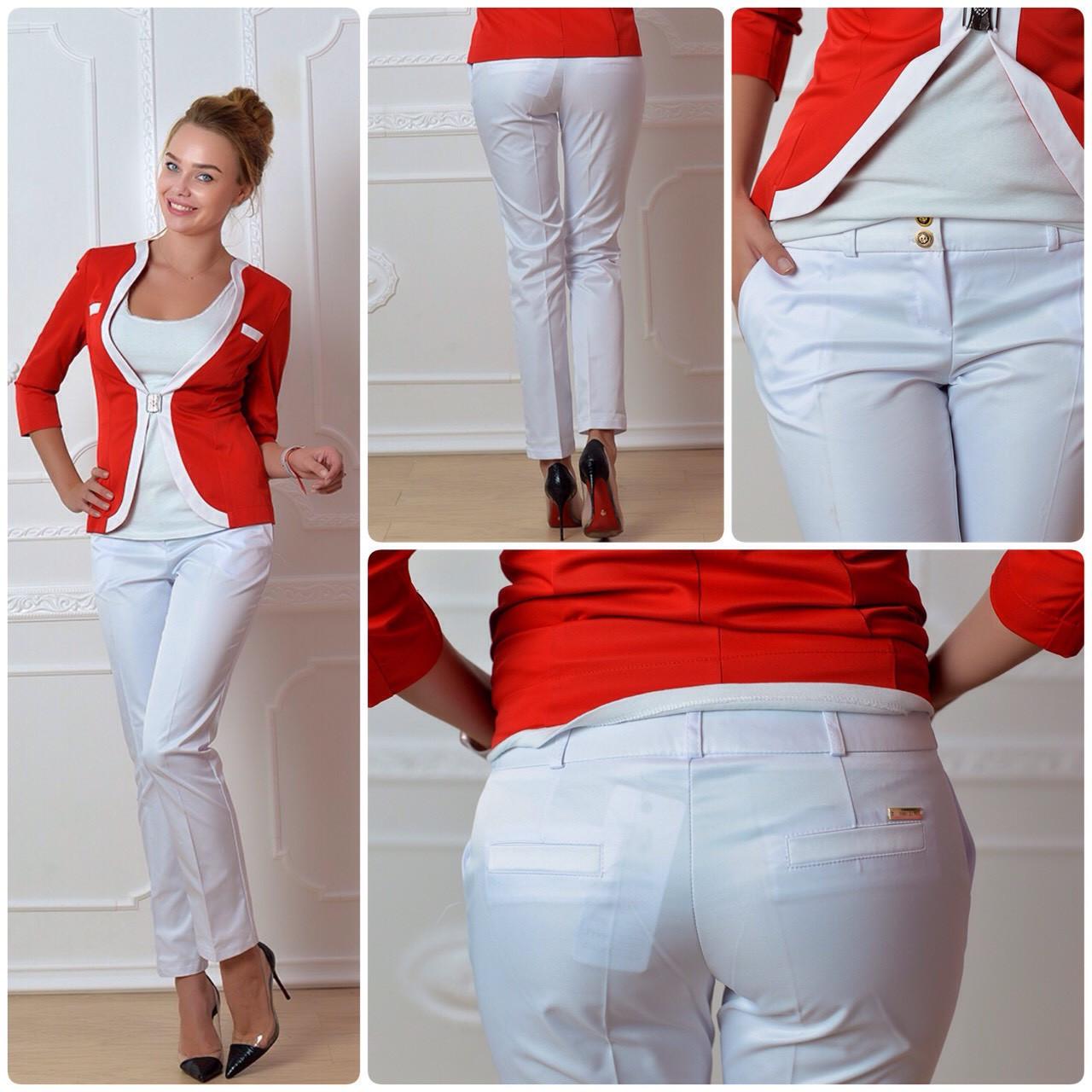Женские брюки, арт 314, цвет белый