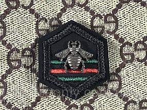 Нашивка пчела полоски 35х40 мм