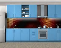 Кухонный фартук Сетка Соты, Самоклеящаяся стеновая панель для кухни, Абстракции, коричневый