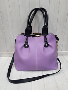 Женская сумка кожзам с двумя ручками и одним отделением 32*26 см