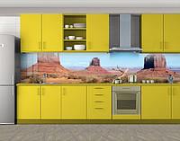 Кухонный фартук Большой каньон, дикий Запад, Пленка самоклеящаяся для скинали, Природа, коричневый