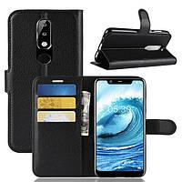 Чехол-книжка Litchie Wallet для Nokia 5.1 Plus Черный