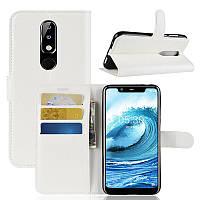 Чехол-книжка Litchie Wallet для Nokia 5.1 Plus Белый