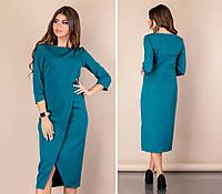 Стильне плаття на запах, арт 131, бордо, фото 1