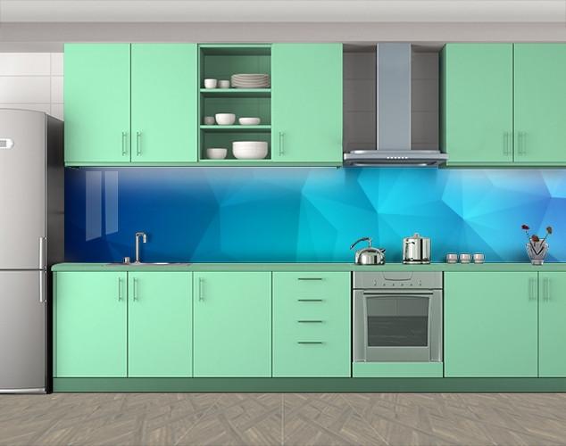 Кухонный фартук Абстрактная текстура, Пленка для кухонного фартука с фотопечатью, Абстракции, голубой, 600*3000 мм