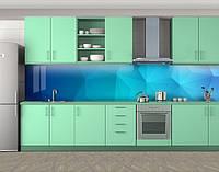Кухонный фартук Абстрактная текстура, Пленка для кухонного фартука с фотопечатью, Абстракции, голубой, 600*3000 мм, фото 1