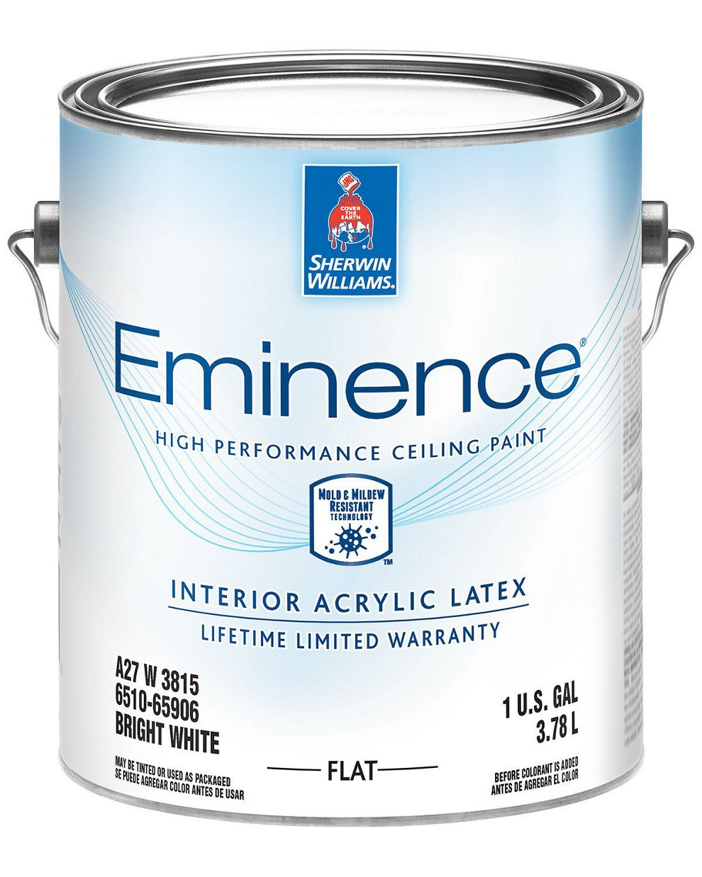 Краска Eminence Flat Sherwin-Williams ярко белая интерьерная глубокоматовая, 3,78л (эминенс для потолка)